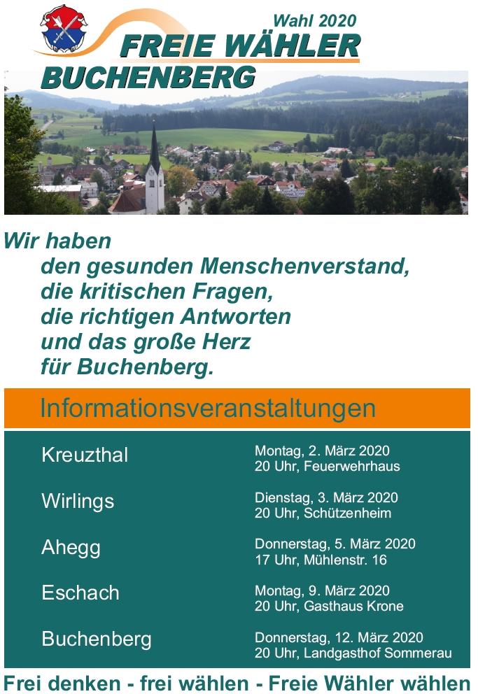 Informationsveranstaltungen der Freien Wähler Buchenberg